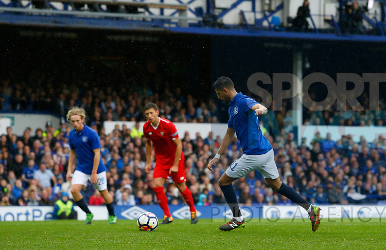 Everton's Kevin Mirallas takes a penalty during the pre season friendly match at Goodison Park Stadium, Liverpool. Picture date 6th August 2017. Picture credit should read: Paul Thomas/Sportimage
