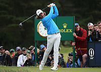 Tommy Fleetwood (ENG) during Round One of the 148th Open Championship, Royal Portrush Golf Club, Portrush, Antrim, Northern Ireland. 18/07/2019. Picture David Lloyd / Golffile.ie<br /> <br /> All photo usage must carry mandatory copyright credit (© Golffile | David Lloyd)