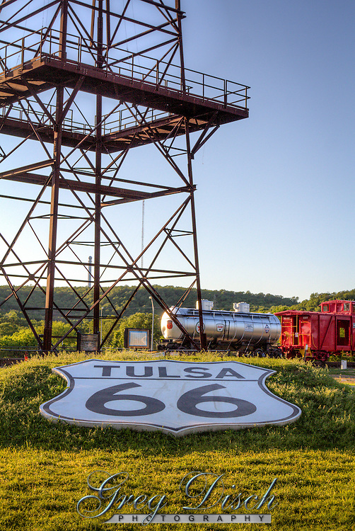 The World&rsquo;s Tallest Oil Derrick<br /> Standing next to the tracks a steel reminder of the Oil Boom that made Tulsa the &ldquo;Oil Capitol of the World&rdquo; rises 154 feet in the air...with the historic site of that first oil strike on June 25, 1901
