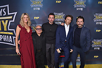 """HOLLYWOOD - SEPTEMBER 24: Kaitlin Olson, Danny Devito, Rob Mcelhenney, Charlie Day, attend the red carpet premiere event for FXX's """"It's Always Sunny in Philadelphia"""" Season 14 at TCL Chinese 6 Theatres on September 24, 2019 in Hollywood, California. (Photo by Stewart Cook/FXX/PictureGroup)"""