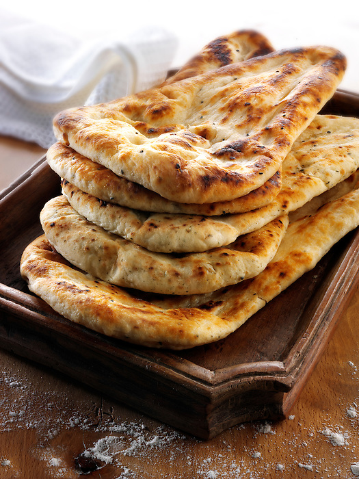 Indian cooking food pictures of curry recipes naan bread garlic and coriander indian naan bread food stock pictures photos fotos images forumfinder Images
