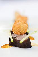 Europe/France/Bretagne/22/Côtes d'Armor/Saint-Brieuc:  Maquereau , Nori Wasabi, Sel de Nuoc-mâm, recette de Jean-Marie Baudic  restaurant: Youpala Bistrot