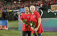 Portland, OR - Saturday August 19, 2017: Girls Inc Girls of the Game during a regular season National Women's Soccer League (NWSL) match between the Portland Thorns FC and the Houston Dash at Providence Park.
