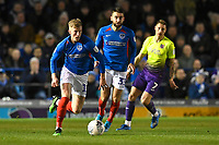 Ross McCrorie of Portsmouth brings the ball out of defence during Portsmouth vs Exeter City, Leasing.com Trophy Football at Fratton Park on 18th February 2020