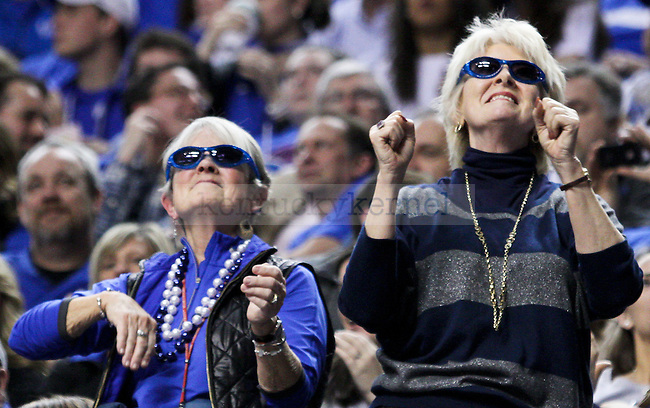 Kentucky fans dance during a timeout during the second half of the University of Kentucky vs. Vanderbilt game at the Rupp Arena in Lexington, Ky., on Tuesday, January 20, 2015. Photo by Jonathan Krueger | Staff