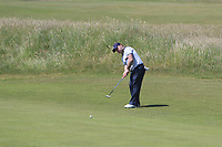 Paul O'Hanlon (Carton House) on the 11th green during Round 2 of the East of Ireland Amateur Open Championship 2018 at Co. Louth Golf Club, Baltray, Co. Louth on Sunday 3rd June 2018.<br /> Picture:  Thos Caffrey / Golffile<br /> <br /> All photo usage must carry mandatory copyright credit (&copy; Golffile | Thos Caffrey)