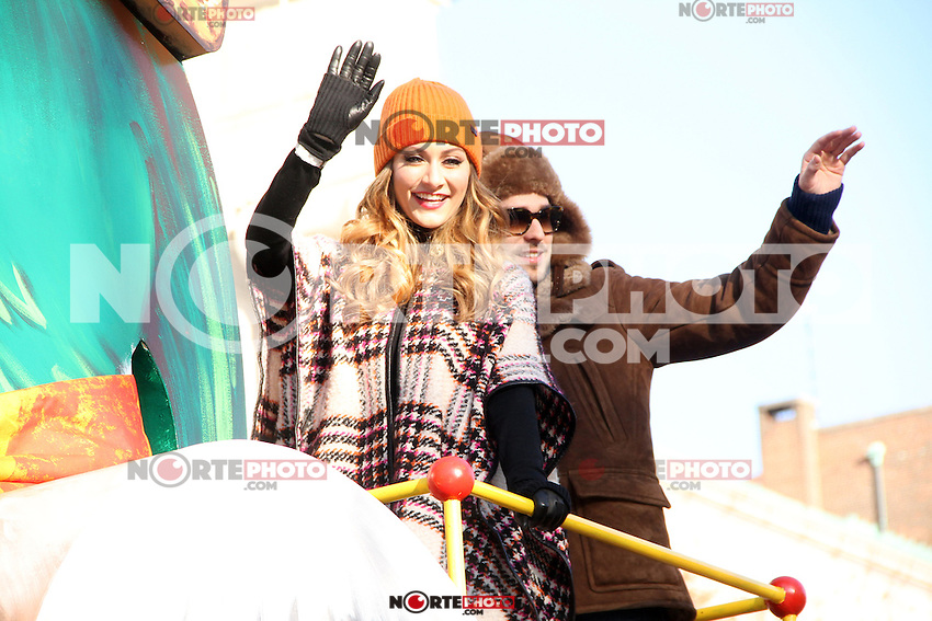 NEW YORK, NY - NOVEMBER 22: Amy Heidemann and Nick Louis Noonan at the 86th Annual Macy's Thanksgiving Day Parade on November 22, 2012 in New York City. Credit: RW/MediaPunch Inc. /NortePhoto