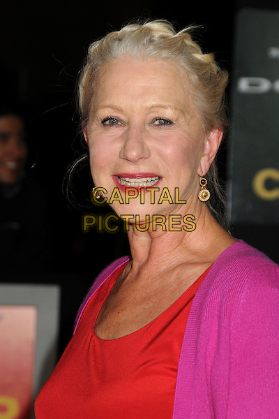 "Helen Mirren.""John Carter"" Los Angeles Premiere held at Regal Cinemas L.A. Live, Los Angeles, California, USA..February 22nd, 2012.headshot portrait pink red purple hair up braid plait fuschia.CAP/ADM/BP.©Byron Purvis/AdMedia/Capital Pictures."