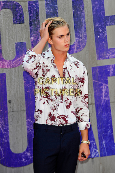 LONDON, ENGLAND - AUGUST 3: Samuel Harwood attending the 'Suicide Squad' European Premiere at Odeon Cinema, Leicester Square on August 3, 2016 in London, England.<br /> CAP/MAR<br /> &copy;MAR/Capital Pictures