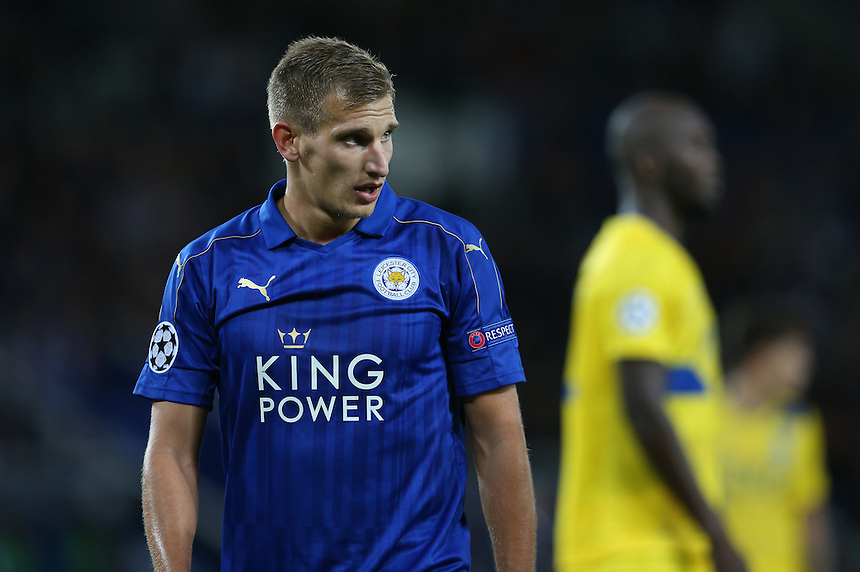 Leicester City's Marc Albrighton<br /> <br /> Photographer Stephen White/CameraSport<br /> <br /> UEFA Champions League - Group G - Leicester City v FC Porto - Tuesday 27th September 2016 - King Power Stadium - Leicester <br />  <br /> World Copyright &copy; 2016 CameraSport. All rights reserved. 43 Linden Ave. Countesthorpe. Leicester. England. LE8 5PG - Tel: +44 (0) 116 277 4147 - admin@camerasport.com - www.camerasport.com