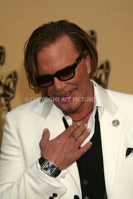 WWW.ACEPIXS.COM . . . . .  ....February 22, 2009. Hollywood, CA....Actor Mickey Rourke arrives at the 81st Annual Academy Awards held at the Kodak Theater on February 22, 2009 in Hollywood, CA.......Please byline: Z09- ACEPIXS.COM.... *** ***..Ace Pictures, Inc:  ..Philip Vaughan (646) 769 0430..e-mail: info@acepixs.com..web: http://www.acepixs.com
