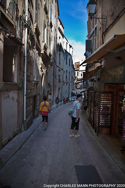 The streets of Bonifacioin southern Corsica  are narrow and mysterious.