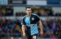 Matt Bloomfield of Wycombe Wanderers during the Sky Bet League 2 match between Wycombe Wanderers and Oxford United at Adams Park, High Wycombe, England on 19 December 2015. Photo by Andy Rowland.