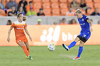 Houston, TX - Sunday Sept. 25, 2016: Andressa Machry, Jessica Fishlock during a regular season National Women's Soccer League (NWSL) match between the Houston Dash and the Seattle Reign FC at BBVA Compass Stadium.