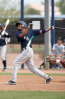 Phillips Castillo #41 of the Seattle Mariners plays in a minor league spring training game against the San Diego Padres at the Padres minor league complex on March 19, 2011  in Peoria, Arizona. .Photo by:  Bill Mitchell/Four Seam Images.