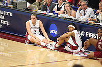 19 March 2007: Jayne Appel and Melanie Murphy during Stanford's 68-61 second round loss to Florida State in the NCAA women's basketball tournament at Maples Pavilion in Stanford, CA.