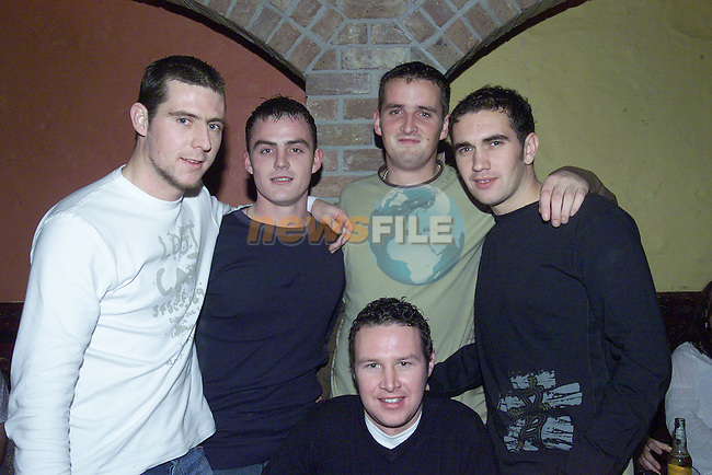 Dean Smith,Steven Dekahan,Derek Thornton,Peter Brennan and Paul Fitzpatrick enjoying a night out in Harry Grooms..Photo Sarah Hanan Newsfile.ie..This Picture has been sent to you by Newsfile Ltd..The Studio,.Millmount Abbey,.Drogheda,.Co. Meath,.Ireland..Tel: +353(0)41-9871240.Fax: +353(0)41-9871260.ISDN: +353(0)41-9871010.www.newsfile.ie..general email: pictures@newsfile.ie