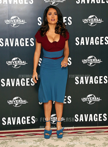 Salma Hayek attending the Savages Photocall held at The Mandarin Oriental, London. 19/09/2012 Picture by: Henry Harris / Featureflash