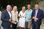 ISPS Handa Wales Open 2012.Terry M's Restaurant Opening.L-R: Gareth Edwards, Branwen Edwards, Michelle Malpass, Steve Nelms and Patrick Edwards..01.06.12.©Steve Pope