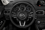 Car pictures of steering wheel view of a 2017 Mazda CX-5 Grand-Touring 5 Door SUV Steering Wheel