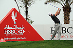 Paul Waring teeing  off on the second on day one of the Abu Dhabi HSBC Golf Championship 2011, at the Abu Dhabi golf club 20/1/11..Picture Fran Caffrey/www.golffile.ie.