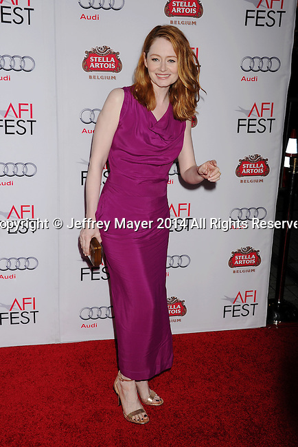 HOLLYWOOD, CA - NOVEMBER 11: Actress Miranda Otto attends the 'The Homesman' premiere during AFI FEST 2014 presented by Audi at the Dolby Theater on November 11, 2014 in Hollywood, California.