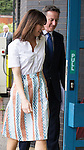 © Joel Goodman - 07973 332324 . 28/03/2015 . Manchester , UK . Samantha Cameron and Prime Minister David Cameron arrive at the Conservative Party Spring Forum at the Old Granada Studios , Quay Street , Manchester . Photo credit : Joel Goodman