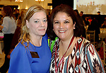 SOUTHINGTON  CT. - 29 October 2019-10229SV23- From left, Mandy Allen of Thomaston, and Kate Carrillo of Southington attend the Waterbury Chamber annual Business Women's Forum in Southington Tuesday<br />  Steven Valenti Republican-American