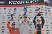 2017 F4 US Championship<br /> Rounds 4-5-6<br /> Indianapolis Motor Speedway, Speedway, IN, USA<br /> Saturday 10 June 2017<br /> Race #1 winner Kyle Kirkwood with 2nd place Braden Eves &amp; 3rd Jonathan Scarallo<br /> World Copyright: Dan R. Boyd<br /> LAT Images