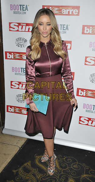 LONDON, ENGLAND - MARCH 02: Lauren Pope attends the Sun's Bizarre column 1st annual party, Steam &amp; Rye bar &amp; restaurant, Leadenhall St., on Monday March 02, 2015 in London, England, UK. <br /> CAP/CAN<br /> &copy;CAN/Capital Pictures
