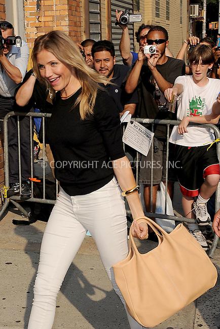 WWW.ACEPIXS.COM . . . . . .June 21, 2011...New York City...Cameron Diaz arrives to tape the Jon Stewart Show on  June 21, 2011 in New York Cityon  June 21, 2011 in New York City....Please byline: KRISTIN CALLAHAN - ACEPIXS.COM.. . . . . . ..Ace Pictures, Inc: ..tel: (212) 243 8787 or (646) 769 0430..e-mail: info@acepixs.com..web: http://www.acepixs.com .