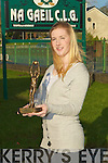 Cliodhna Carmody NA Gaeil GAA Club who was voted 2009 Kerry Ladies Minor Player of the Year.......