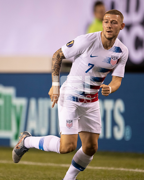 PHILADELPHIA, PA - JUNE 30: Paul Arriola #7 during a game between Curaçao and USMNT at Lincoln Financial Field on June 30, 2019 in Philadelphia, Pennsylvania.