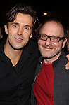Michael Xavier and Lonny Price attend the Actors' Equity Opening Night Gypsy Robe Ceremony for 'Sunset Boulevard'  honoring Matt Wall at the Palace Theatre Theatre on February 9, 2017 in New York City.