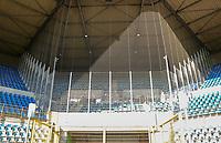 Käfig für die Gästefans im Stade de Meinau - 22.08.2019: Racing Straßburg vs. Eintracht Frankfurt, UEFA Europa League, Qualifikation, Commerzbank Arena<br /> DISCLAIMER: DFL regulations prohibit any use of photographs as image sequences and/or quasi-video.
