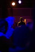 Durham, North Carolina - Friday May 6, 2016 - Security at the Kamasi Washington concert Friday night in the Armory in Durham.