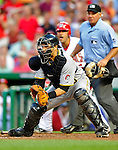 8 June 2010: Pittsburgh Pirates' catcher Jason Jaramillo gets Washington Nationals' outfielder Josh Willingham out at the plate during a game at Nationals Park in Washington, DC. The Nationals defeated the Pirates 5-2 in the series opener where pitching sensation Stephen Strasburg made his Major League debut, striking out 14 batters and notching his first win in the majors. Mandatory Credit: Ed Wolfstein Photo