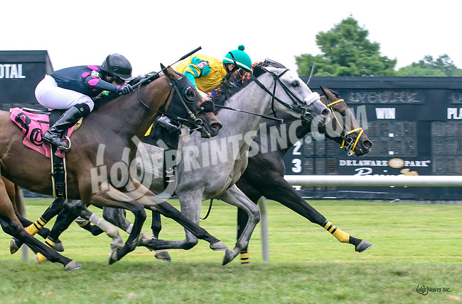 Eyerish Inspired winning at Delaware Park on 7/22/17