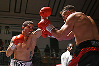 Ramon Perez (black shorts) defeats Ben Fields during a Boxing Show at York Hall on 2nd February 2019
