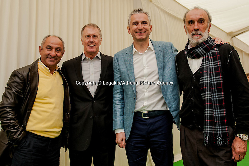 Thursday  29 May 2014, Hay on Wye, UK<br /> Pictured: ( L-R )  Osvaldo Ardiles, Sir Geoff Hurst, Alan Smith and Ricardo Villa <br /> Re: The Hay Festival, Hay on Wye, Powys, Wales UK.
