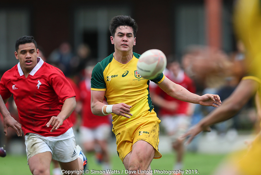 Action from the rugby union match between New Zealand Schools Barbarians and Australia Under-18 at Hamilton Boys' High School in Hamilton, New Zealand on Monday, 30 September 2019. Photo: Simon Watts / lintottphoto.co.nz