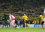 Dortmund's fans get behind their team despite being 1-0 down<br /> <br /> UEFA Champions League- Arsenal vs Borussia Dortmund- Emirates Stadium - England - 26th November 2014 - Picture David Klein/Sportimage
