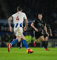 Burnley's Chris Wood (right) <br /> <br /> Photographer David Horton/CameraSport<br /> <br /> The Premier League - Brighton and Hove Albion v Burnley - Saturday 9th February 2019 - The Amex Stadium - Brighton<br /> <br /> World Copyright &copy; 2019 CameraSport. All rights reserved. 43 Linden Ave. Countesthorpe. Leicester. England. LE8 5PG - Tel: +44 (0) 116 277 4147 - admin@camerasport.com - www.camerasport.com