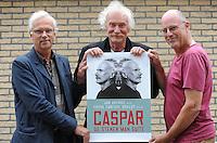 CULTUUR: JOURE: 01-09-2013, Caspar de Stenen Man Suite, Initiatiefnemers Frits Boersma (beeld) - Jan Arendz (acteur) - Frans Vermeersen (muziek), ©foto Martin de Jong
