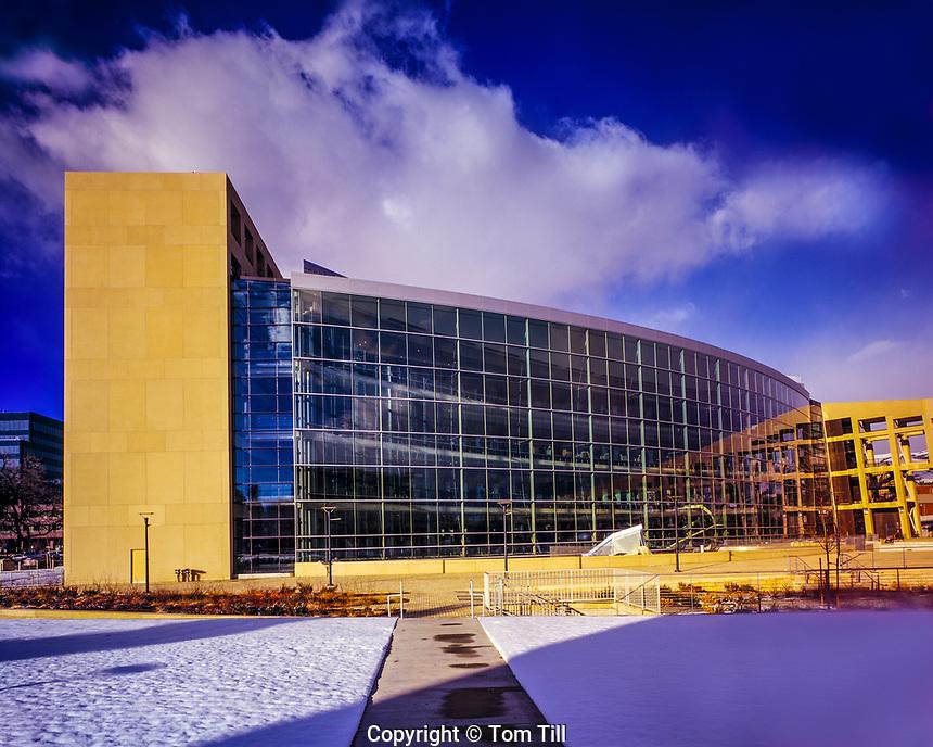 Main Library, Salt Lake City, Utah    Winter view   January, 2010