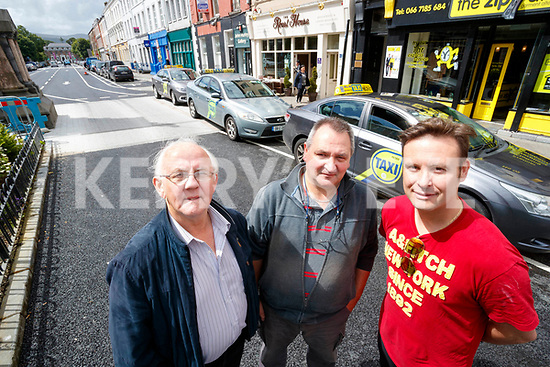 Tralee Taxi Drivers Michael O'Sullivan, Kevin Coffey and Philip Beirne.