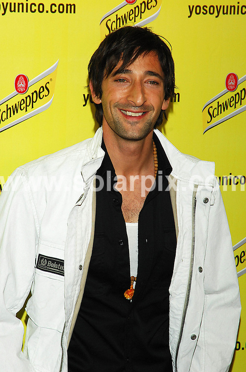 **ALL ROUND PICTURES FROM SOLARPIX.COM**.SYNDICATION RIGHTS FOR UK, CANADA, USA, SOUTH AFRICA, SOUTH AMERICA, DUBAI, AUSTRALIA, NEW ZEALAND, GREECE, ASIA.Adrien Brody is the Image of Schweppes in Madrid, Spain, at the ME Hotel..JOB REF: 4018   SPA     DATE: 29.05.07.**MUST CREDIT SOLARPIX.COM OR DOUBLE FEE WILL BE CHARGED* *UNDER NO CIRCUMSTANCES IS THIS IMAGE TO BE REPRODUCED FOR ANY ONLINE EDITION WITHOUT PRIOR PERMISSION*