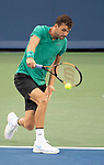 August  15, 2018:  Grigor Dimitrov (BUL) defeated Misha Zverev (GER) 7-6, 7-5, at the Western & Southern Open being played at Lindner Family Tennis Center in Mason, Ohio. ©Leslie Billman/Tennisclix/CSM