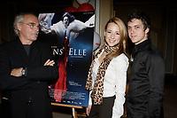 Montreal (QC) CANADA -Sept 18 2006-<br /> jEAN bEAUDIN, FILM MAKER (l), Maxim GaudettE, ACTOR, Karine Vanasse, actress in Jean Beaudin new movie ''