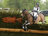 LEXINGTON, KY - April 29, 2017.  #27 Jollybo and Hawley Bennett - Awad from Canada on the Cross Country course at the Rolex Three Day Event at the Kentucky Horse Park.  Lexington, Kentucky. (Photo by Candice Chavez/Eclipse Sportswire/Getty Images)